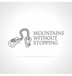Climbing gear icon with vector