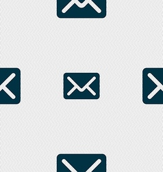 Mail envelope letter icon sign seamless pattern vector