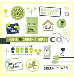 Green energy recycle ecology icon design logo vector