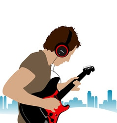 Guitar man vector