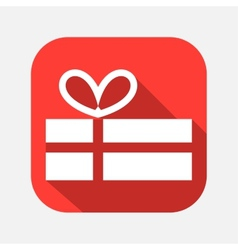 Gift box with a bow icon vector
