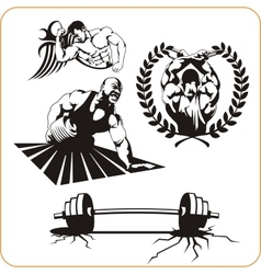 Bodybuilding and fitness - vector