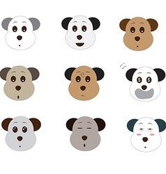 Cute dog emoji1 01 vector