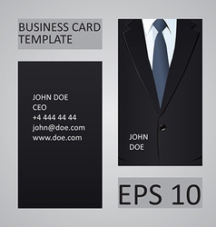 Suit business card template vector