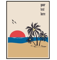 Summer beach poster vector