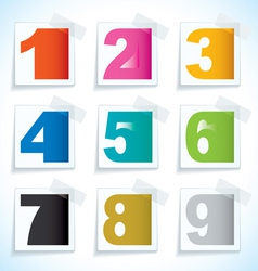 Number paper tags vector