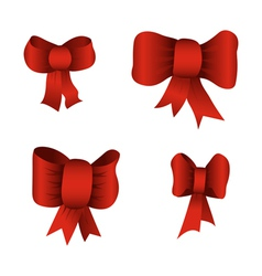 Red bows vector