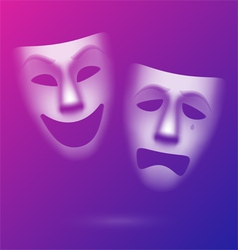 Comedy and tragedy theatrical masks vector