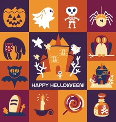 Set-of-halloween-icons vector
