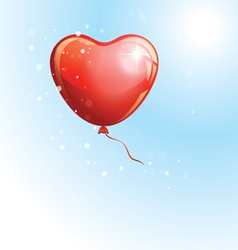 Heart shaped red balloon vector