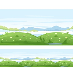 Meadows game background vector