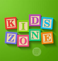 Kids zone vector