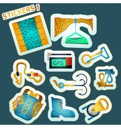 Colored stickers for rock climbing vector