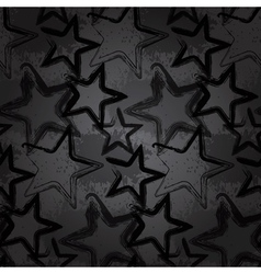 Grunge rock star background brush smear stars vector
