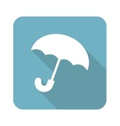 Umbrella square icon vector