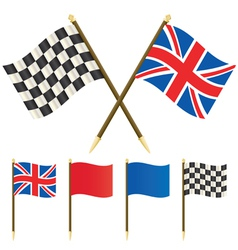 Winners flags vector