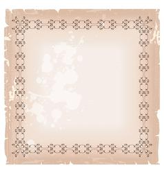 Blank banner frame template vector