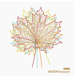 Colorful transparent leaves fall season background vector