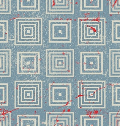 Grunge vintage geometric seamless pattern old vector