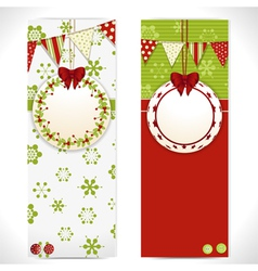 Christmas banner background labels vector