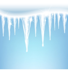 Icicles on a blue background vector