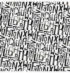Vintage style pattern uneven grunge letters vector