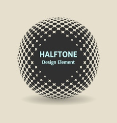 Halftone design element vector
