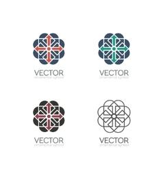 Geometric symbols vector