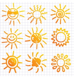 Suns  elements for design do vector