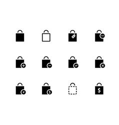 Shopping bag icons on white background vector