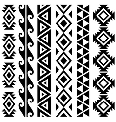 Aztec tribal seamless pattern designs vector