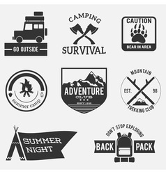Camping badges vector