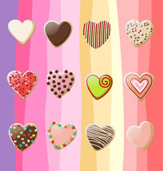 Sweet hearts valentine vector