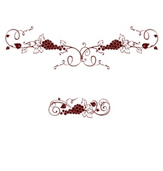 Set of design elements - grape vector