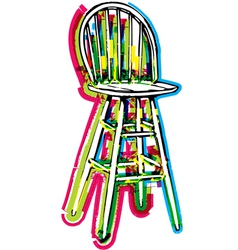Chair on white background vector