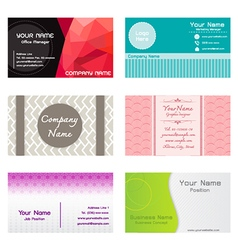Set of name cards template vector