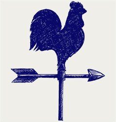 Cockerel wind vane vector