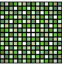 Green stained-glass window seamless pattern vector