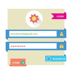 User login 21 vector