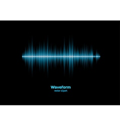 Blue sound waveform vector