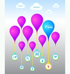 Balloon with icons vector