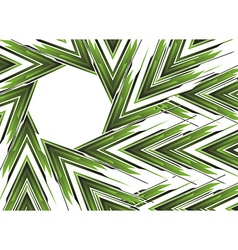 Abstract green arrow banner vector