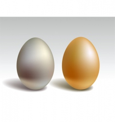 Gold and silver eggs vector