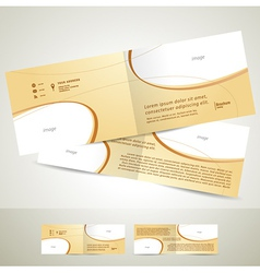 Brochure design template booklet biege curve line vector