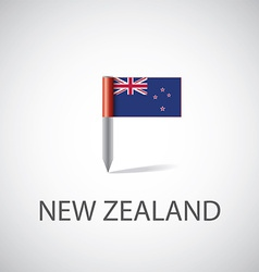 New zealand flag pin vector