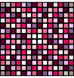 Pink stained-glass window pattern vector