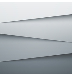 Grey paper layers abstract background vector