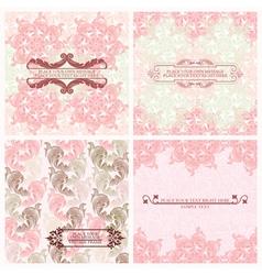Floral backgrounds vector