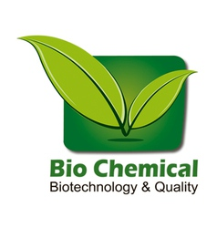 Logo for biochemistry biotechnology health vector