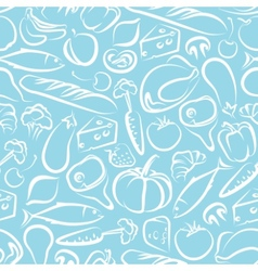 Seamless background with food vector